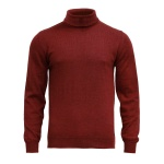 Bordowy golf Merino