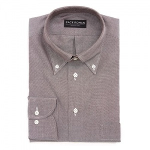 KOSZULA BRĄZOWA OCBD OXFORD CLOTH BUTTON DOWN