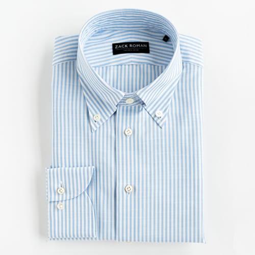 Koszula OCBD w biało-niebieski prążek