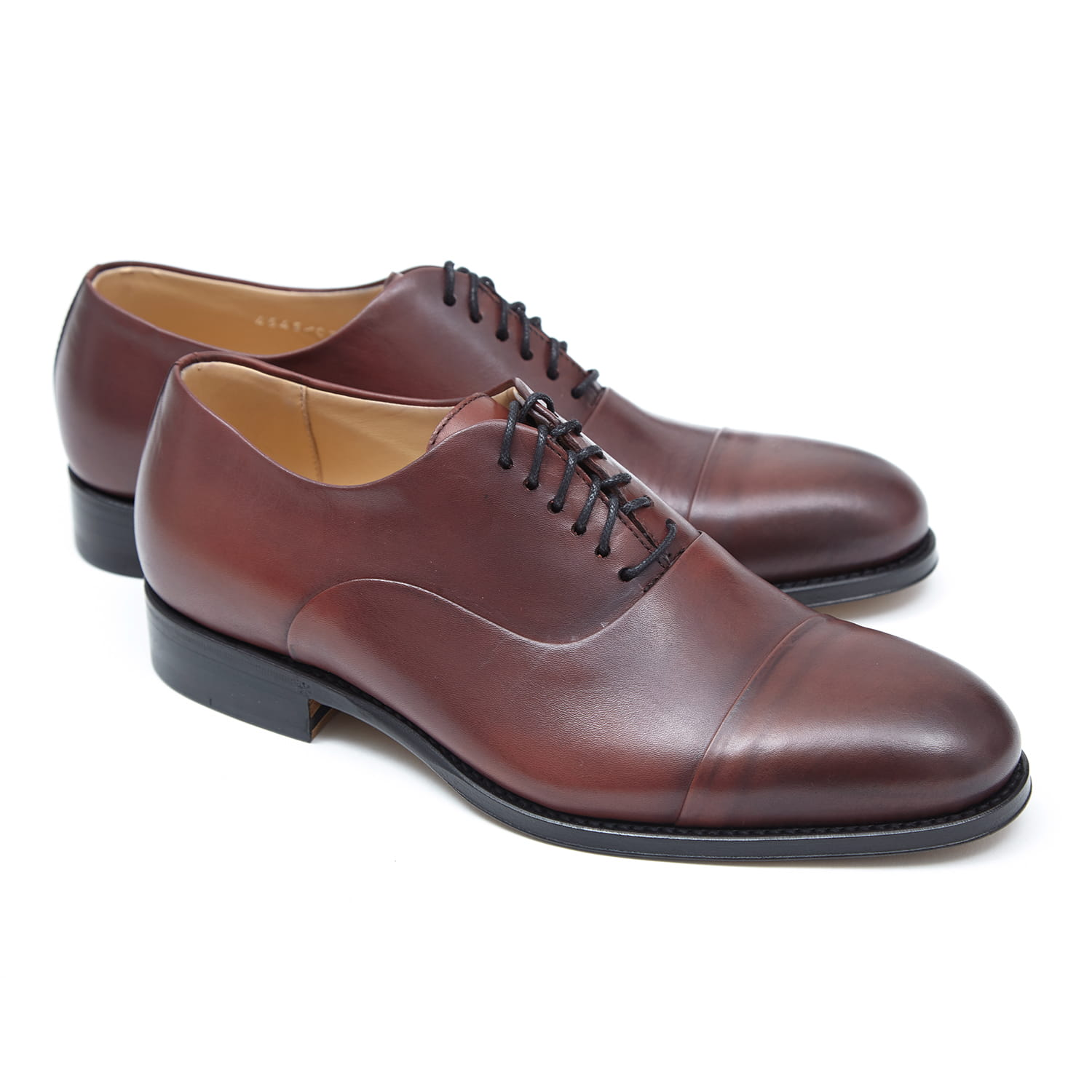 BUTY OXFORD CAP-TOE BORDOWE