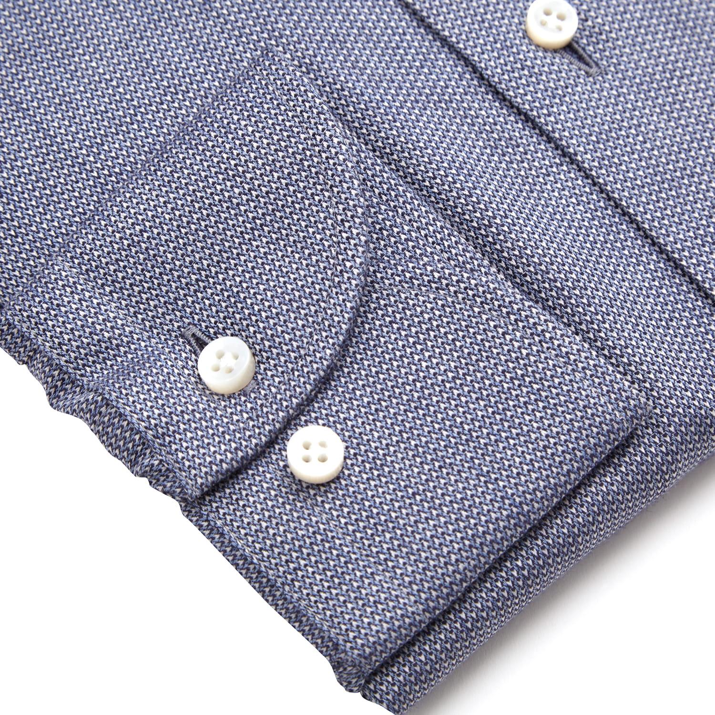 Koszula Flanela Button Down mikrowzór Zack Roman Sartorial  NfSOG